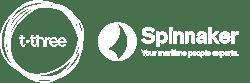 t-three Spinnaker combined logo