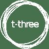t-three White Logo